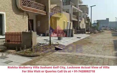 Rishita Mulberry Villas Sushant Golf City, Lucknow Actual View (1)