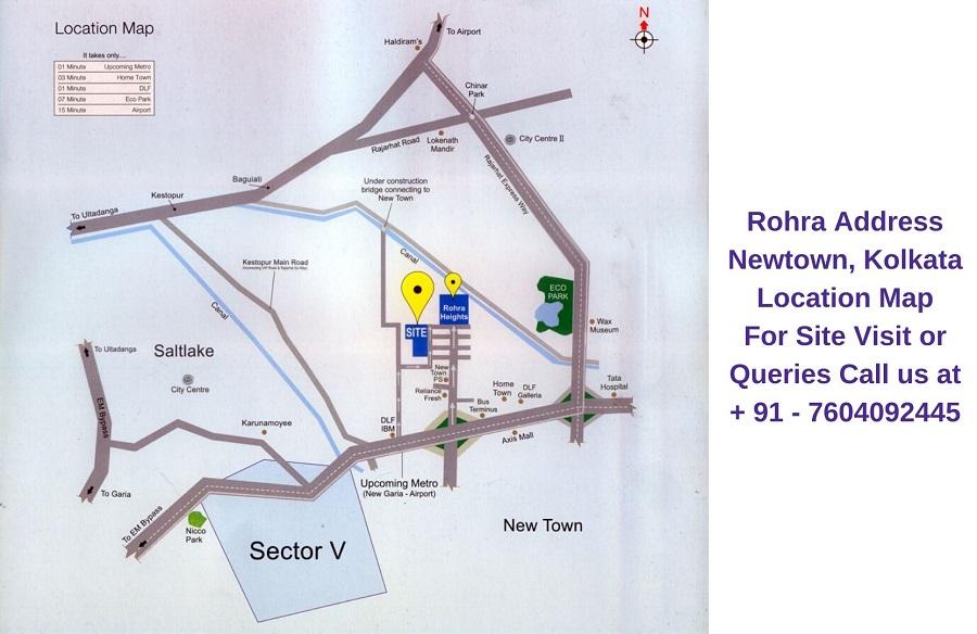 Rohra Address Newtown Kolkata Location Map