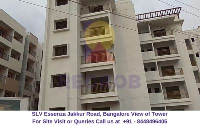SLV Essenza Jakkur Road, Bangalore Actual View of Tower