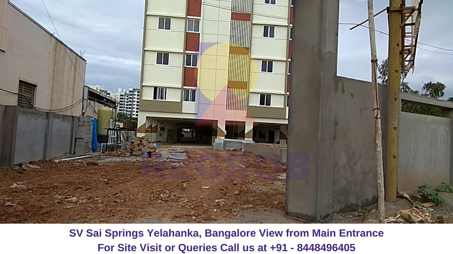 SV Sai Springs Yelahanka Bangalore View from entrance