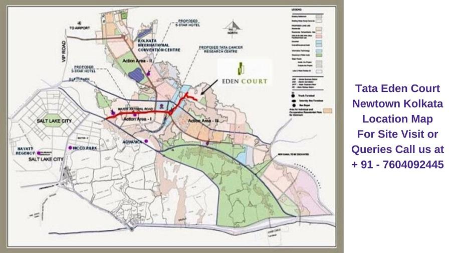 Tata Eden Court Newtown Kolkata Location Map