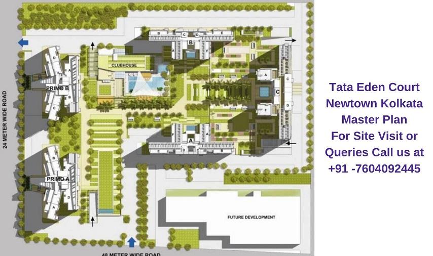 Tata Eden Court Newtown Kolkata Master Plan