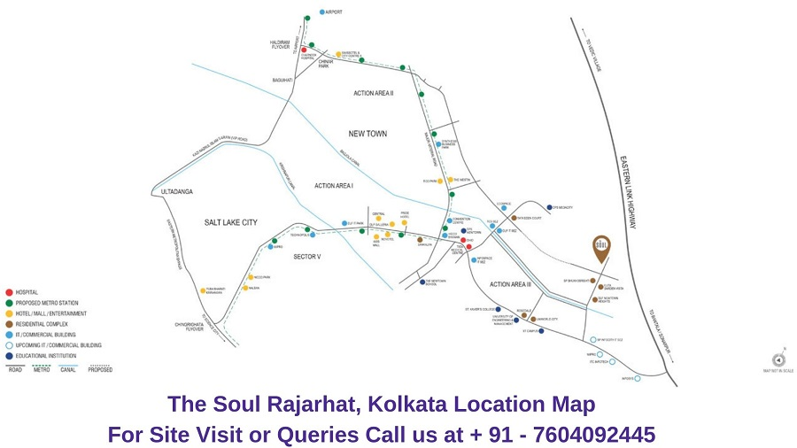 The Soul Rajarhat Kolkata Location Map