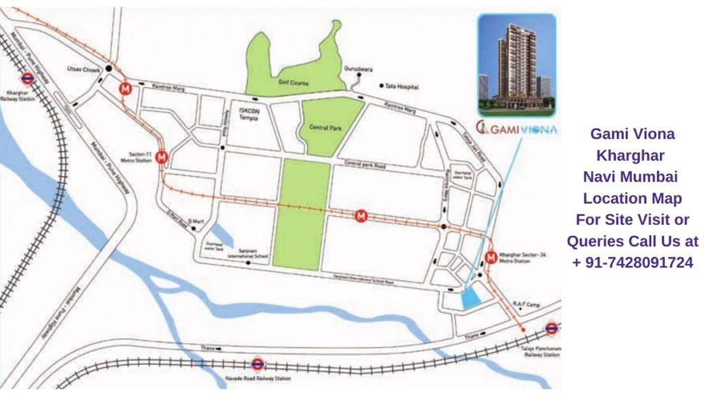 Gami Viona Kharghar Navi Mumbai Location Map