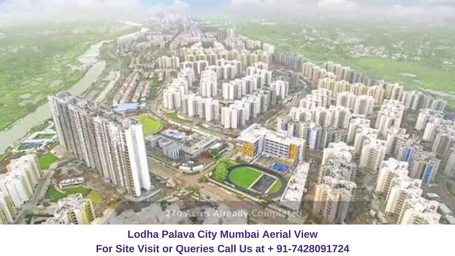 Lodha Palava City Mumbai Aerial View