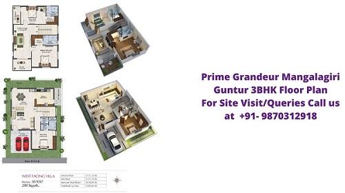 Prime Grandeur Mangalagiri Guntur 3BHK Floor Plan
