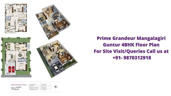 Prime Grandeur Mangalagiri Guntur 4BHK Floor Plan