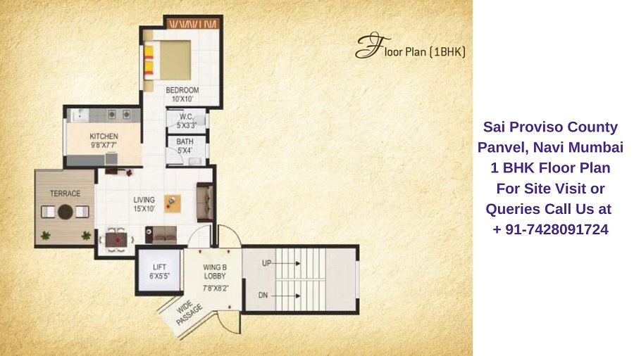 Sai Proviso County Panvel Navi Mumbai 1 BHK Floor Plan
