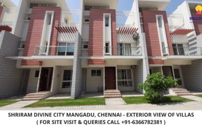 Shriram Divine City Villas Mangadu Chennai