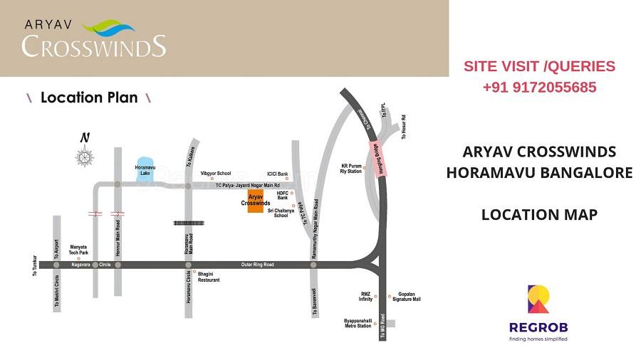 Aryav Crosswinds Location map
