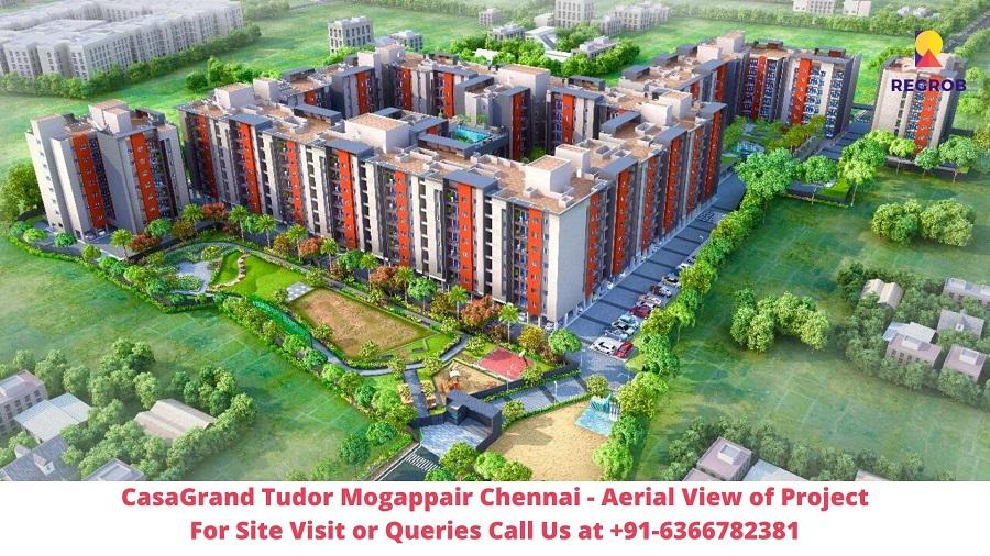 CasaGrand Tudor Mogappair Chennai Aerial View