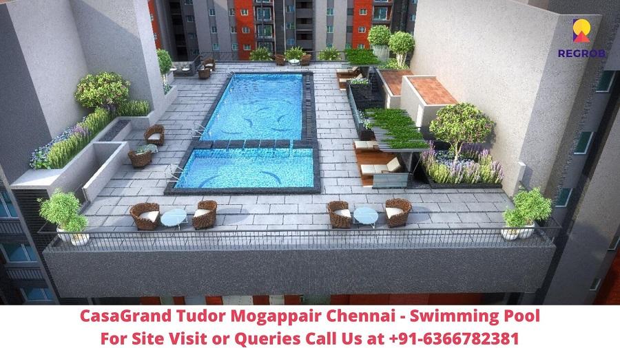 CasaGrand Tudor Mogappair Chennai Swimming Pool