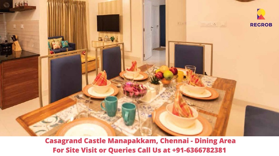 Casagrand Castle Manapakkam, Chennai Dining Area