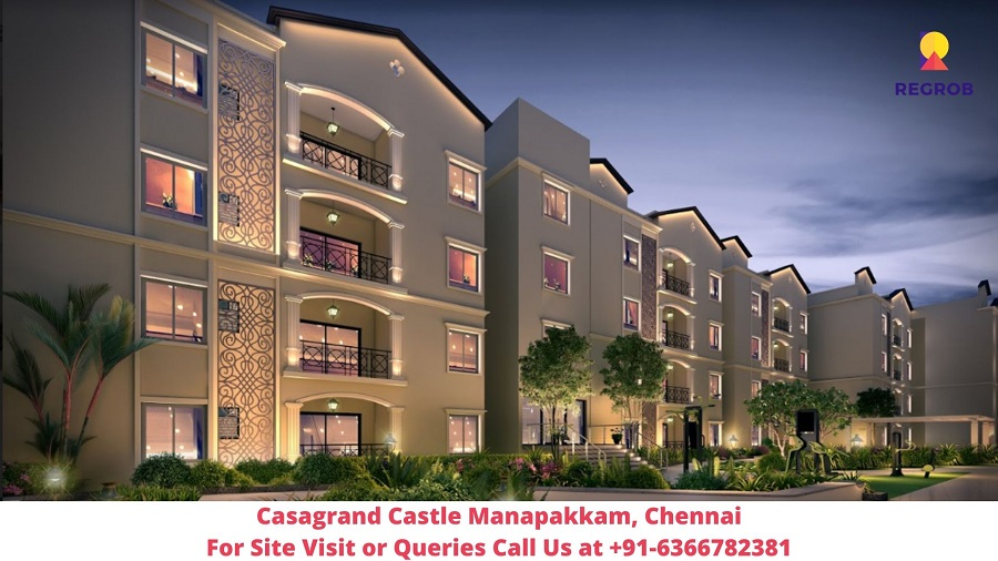 Casagrand Castle Manapakkam, Chennai Elevated View