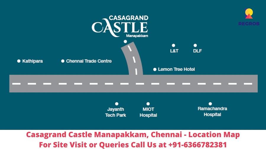Casagrand Castle Manapakkam, Chennai Location Map