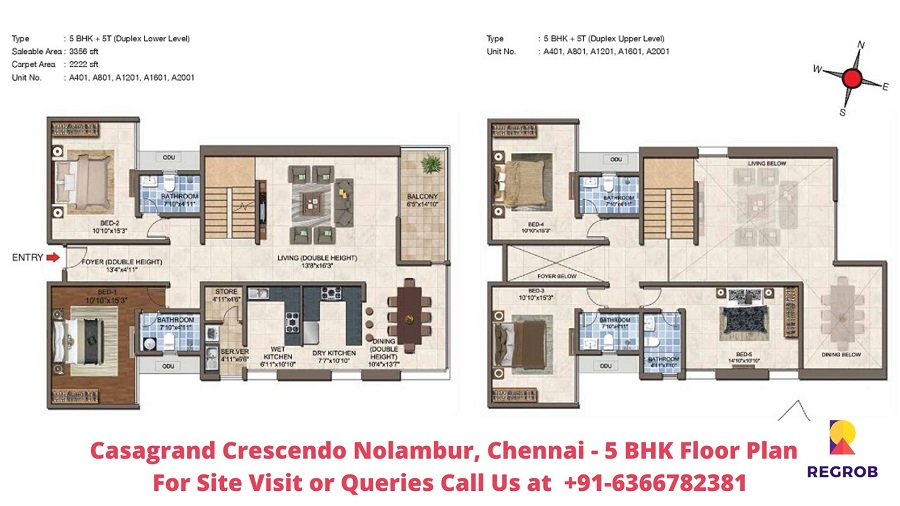5 BHK Floor Plan