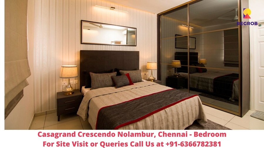 Casagrand Crescendo Nolambur Chennai Bedroom