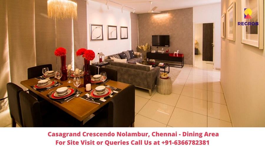 Casagrand Crescendo Nolambur Chennai Dining Area