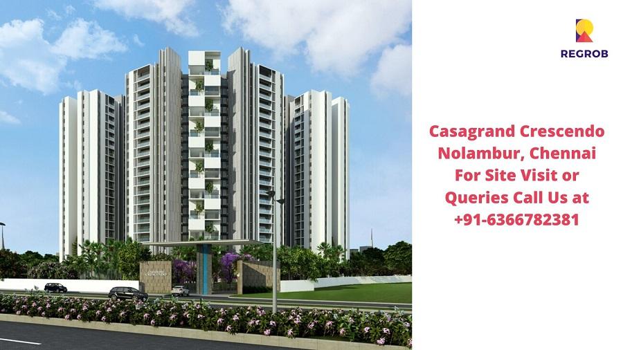 Casagrand Crescendo Nolambur Chennai Elevated View