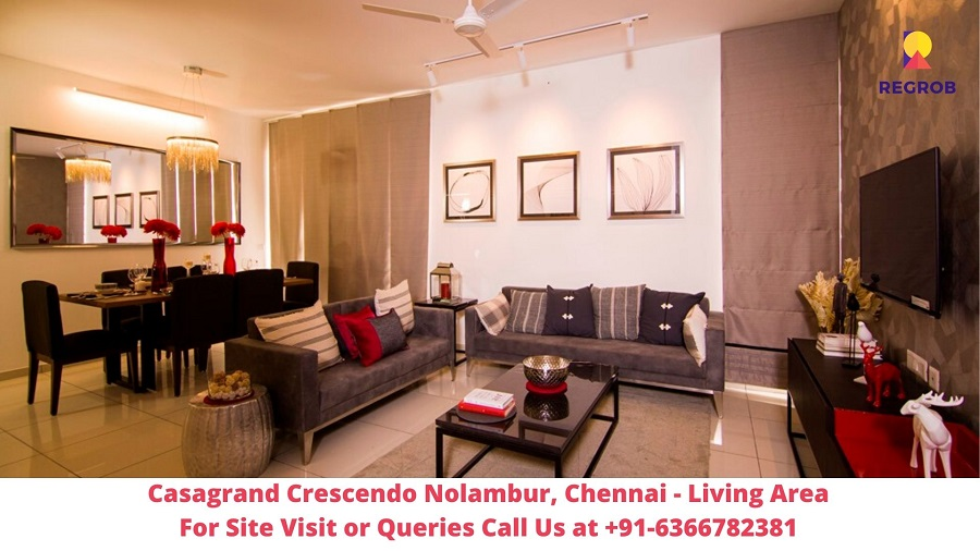 Casagrand Crescendo Nolambur Chennai Living Area