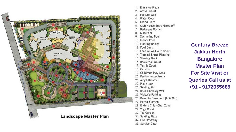 Century Breeze Jakkur North Bangalore Master Plan