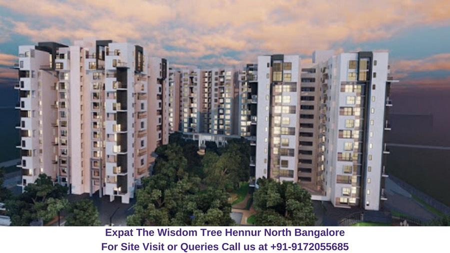 Expat The Wisdom Tree Hennur North Bangalore Elevated View