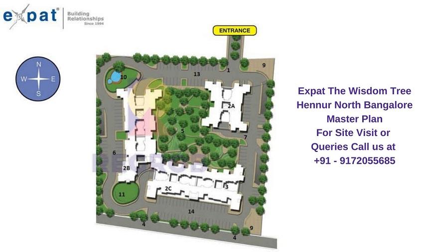 Expat The Wisdom Tree Hennur North Bangalore Master Plan