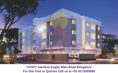GVSPL Gardens Kogilu Main Road Bangalore Elevated View