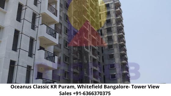 Oceanus Classic KR Puram Whitefield Bangalore  view of tower