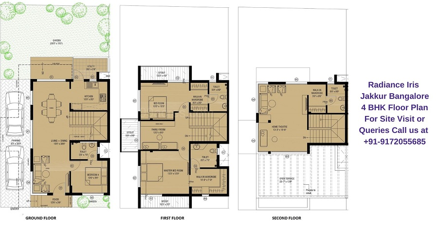 4 BHK Villa Floor Plan