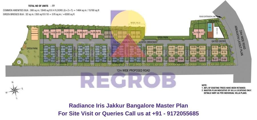 Radiance Iris Jakkur Bangalore Master Plan