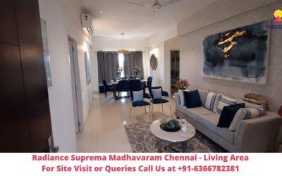 Radiance Suprema Madhavaram Chennai Living Area