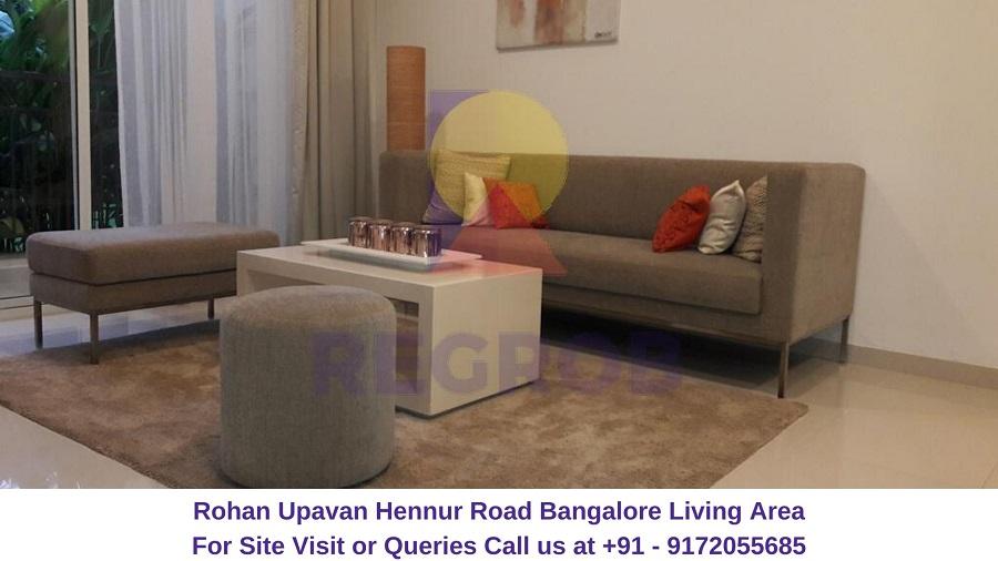 Rohan Upavan Hennur Road Bangalore Living Area