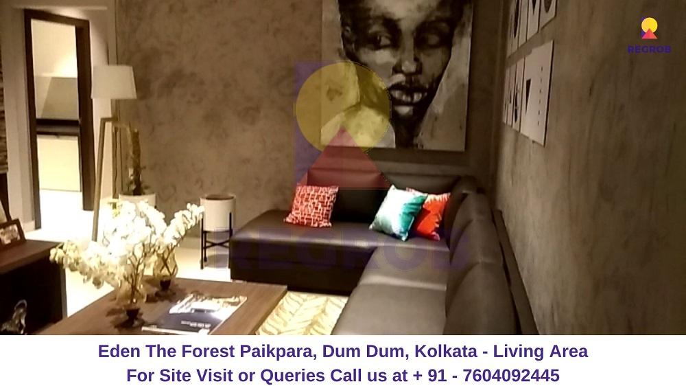 Eden The Forest Paikpara, Dum Dum, Kolkata Living Area