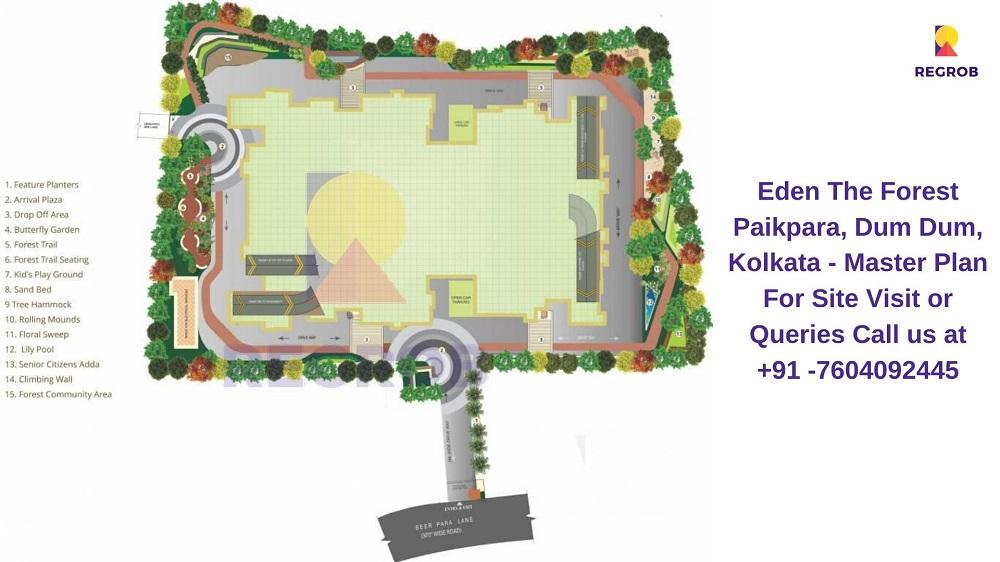 Eden The Forest Paikpara, Dum Dum, Kolkata Master Plan