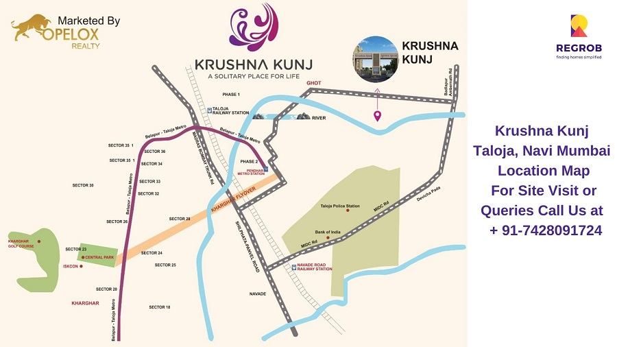 Krushna Kunj Taloja, Navi Mumbai Location Map