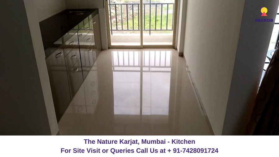 1 BHK Flat Kitchen View
