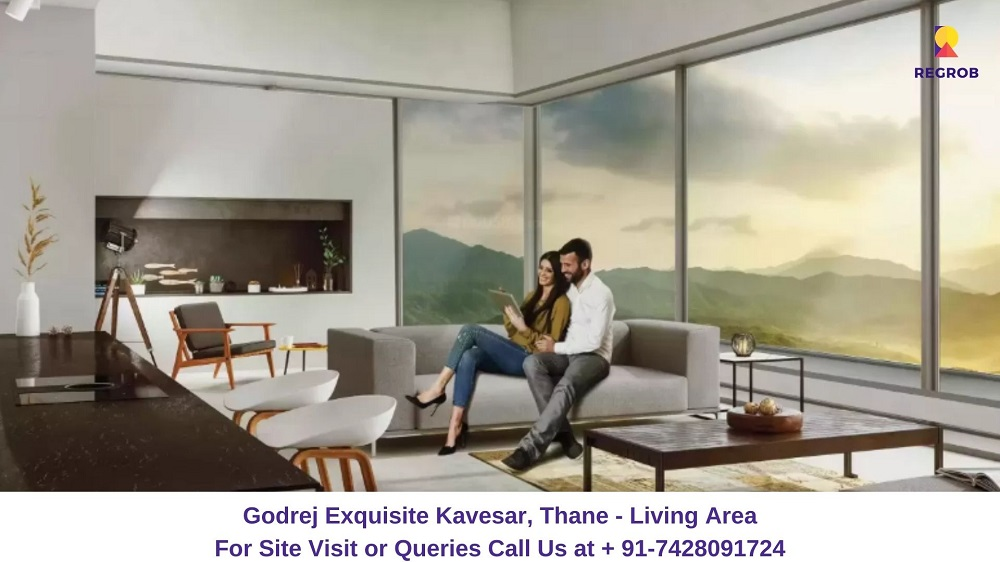 Godrej Exquisite Kavesar, Thane Living Area