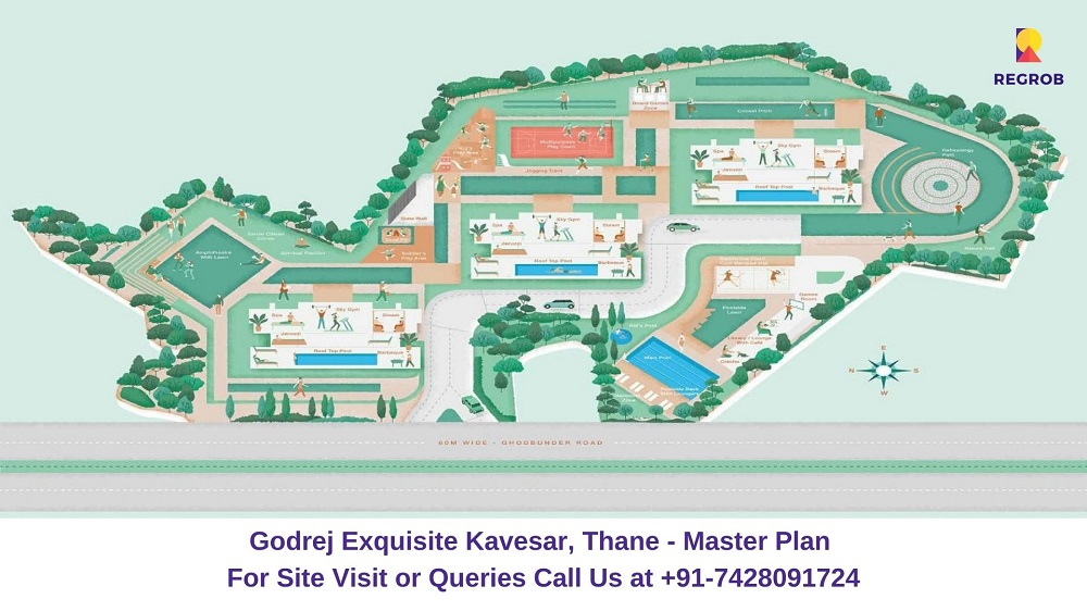 Godrej Exquisite Kavesar, Thane Master Plan