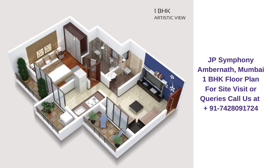 1 BHK Floor Plan