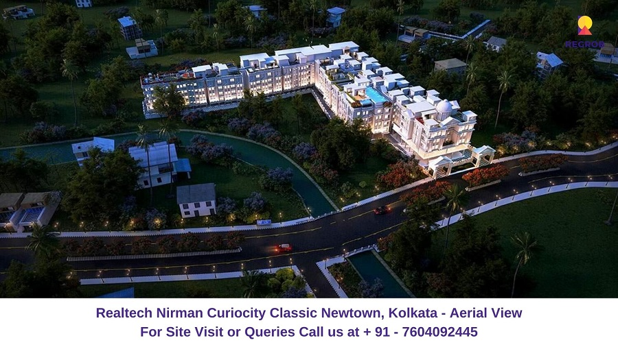 Realtech CurioCity Classic Newtown, Kolkata Aerial View