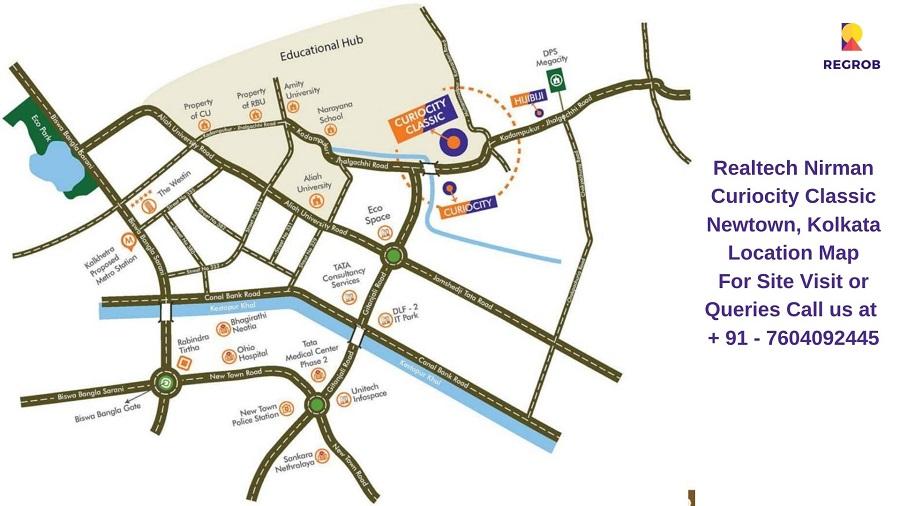 Realtech CurioCity Classic Newtown, Kolkata Location Map