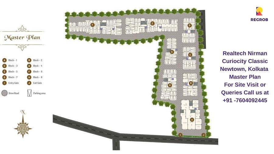 Realtech CurioCity Classic Newtown, Kolkata Master Plan