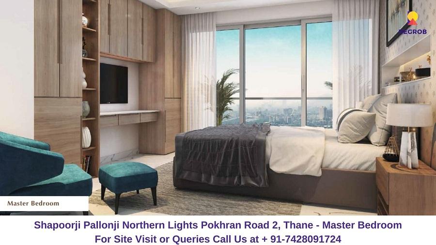 Shapoorji Pallonji Northern Lights Pokhran Road 2, Thane Bedroom (1)
