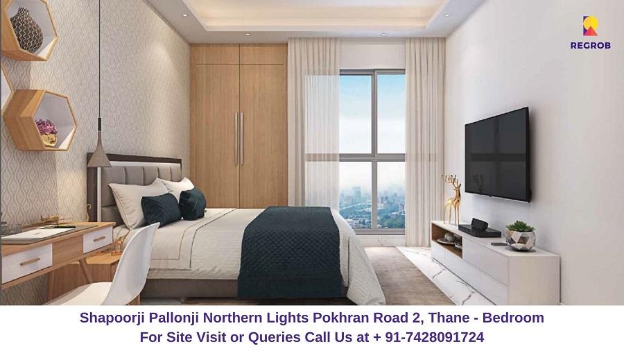 Shapoorji Pallonji Northern Lights Pokhran Road 2, Thane Bedroom (2)