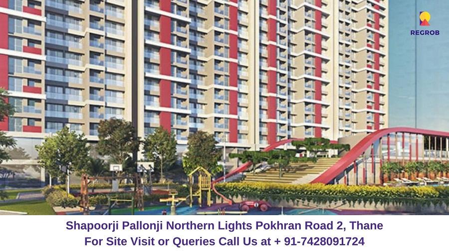 Shapoorji Pallonji Northern Lights Pokhran Road 2, Thane Elevated View (2)