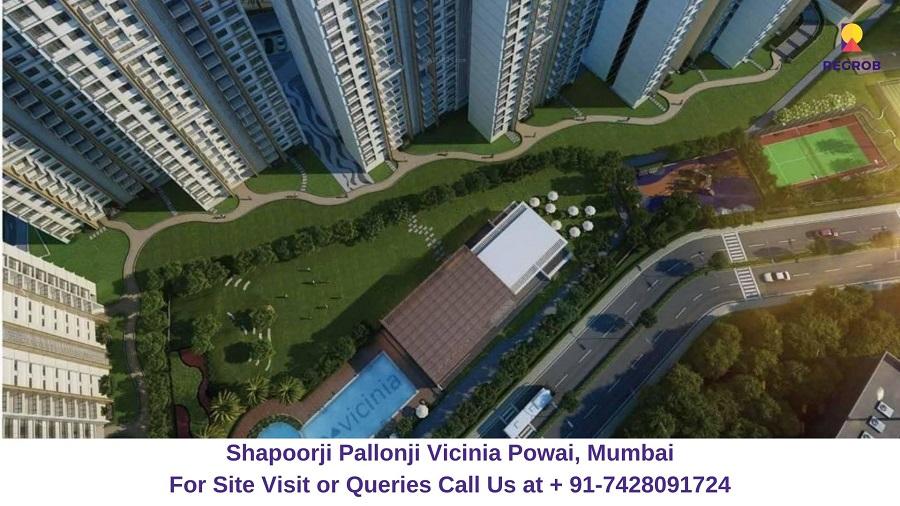 Shapoorji Pallonji Vicinia Powai, Mumbai Aerial View