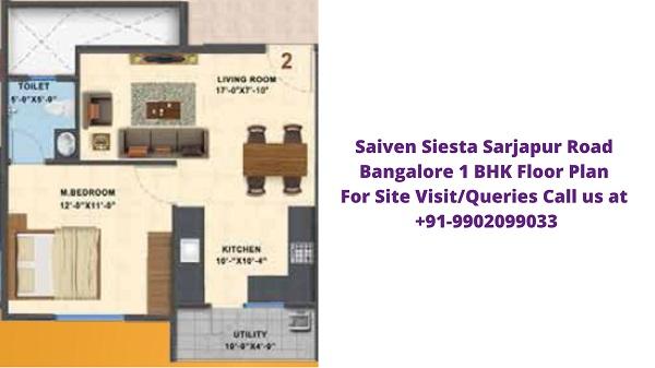 Saiven Siesta Bangalore 1 BHK Floor Plan