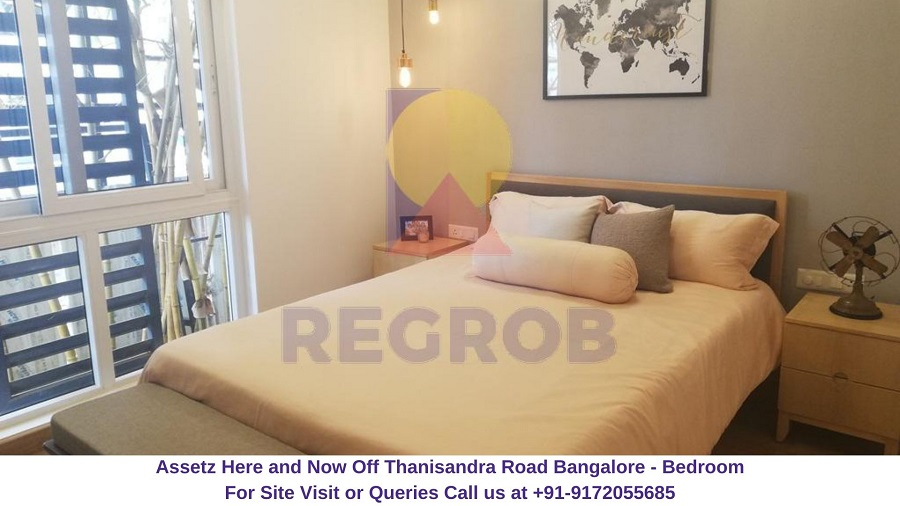 Assetz Here and Now Off Thanisandra Road Bangalore Bedroom