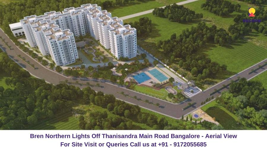 Bren Northern Lights Off Thanisandra Main Road Bangalore Aerial View